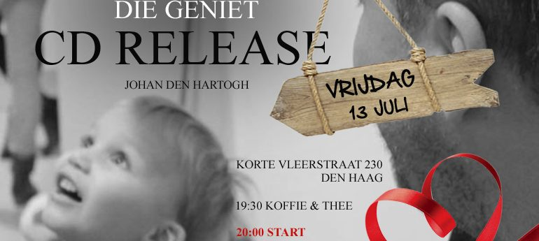 CD release 'The Father who enjoys' Johan den Hartogh