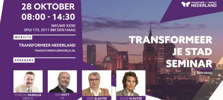 Verander je stad? Unieke dag in Den Haag – Zaterdag 28 oktober 2017