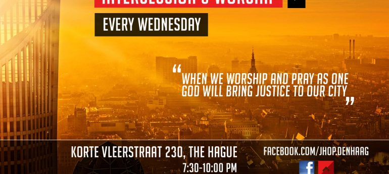 NEW! Every wednesday intercession and worship